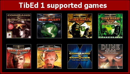 Games supported by TibEd 1